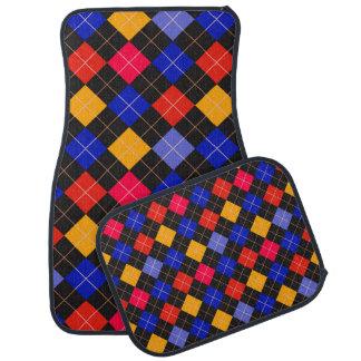 Funky Trendy Retro Abstract Pattern Car Floor Mat
