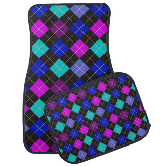 Funky Trendy Retro Abstract Pattern Car Mat