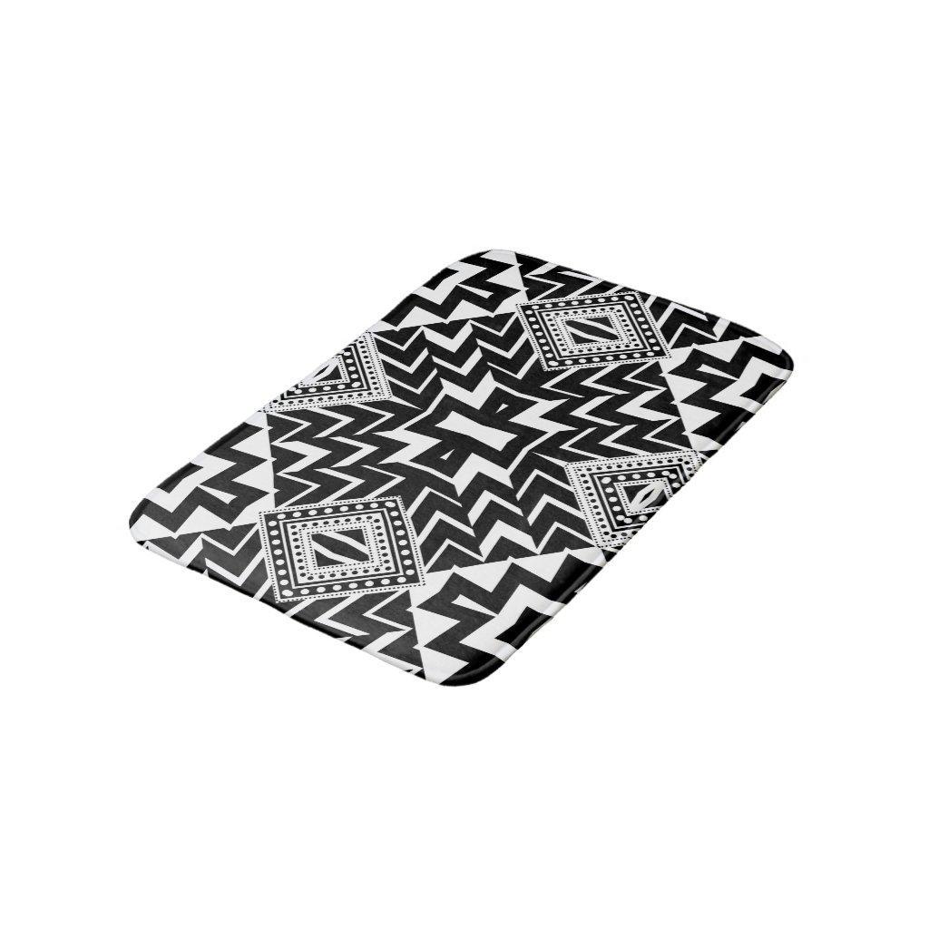 Funky Tribal Chevron Pattern Bath Mat