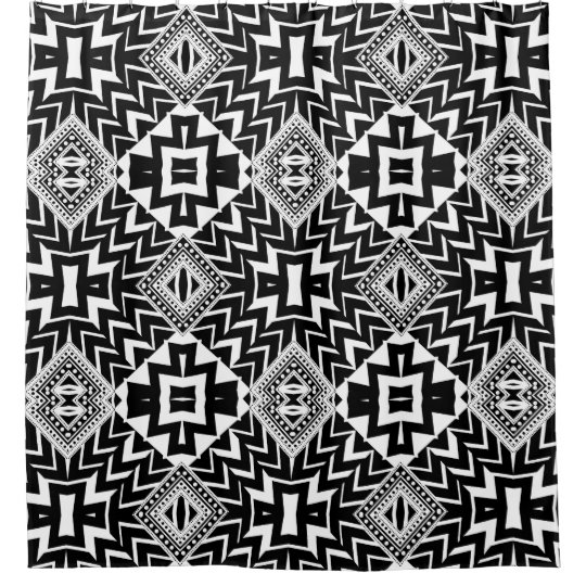 Funky Tribal Chevron Pattern Shower Curtain | Zazzle