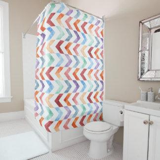Funky Tribal Watercolor Arrow Pattern Bath Shower Curtain