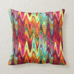 funky tropical colors abstract 3 pillow