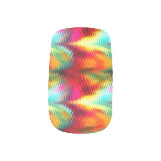 Funky,  Tropical, Vibrant Rainbow Minx® Nail Art