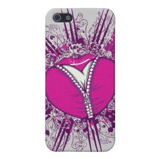 funky unzipped heart vector illustration iPhone SE/5/5s case