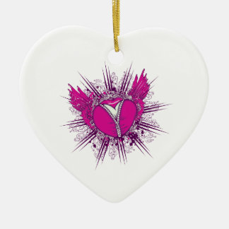 funky unzipped heart vector illustration ornament
