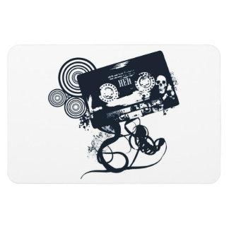 Funky vector cassette magnet