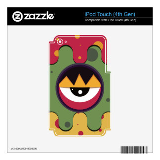 Funky vector eye in goggle melting design iPod touch 4G decals