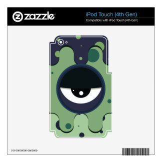 Funky vector eye in goggle melting design skin for iPod touch 4G