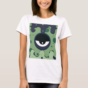 Funky vector eye in goggle melting design T-Shirt