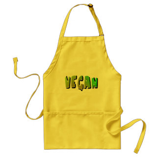 Funky Vegan With Shading Adult Apron