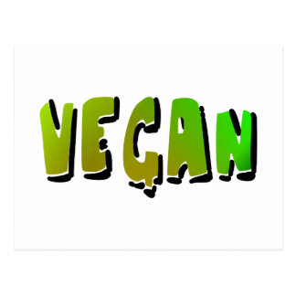 Funky Vegan With Shading Postcard