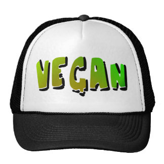 Funky Vegan With Shading Trucker Hats