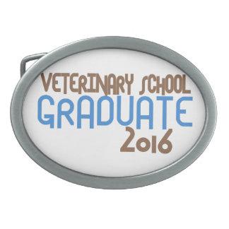 Funky Veterinary School Graduate 2016 (Blue) Oval Belt Buckle