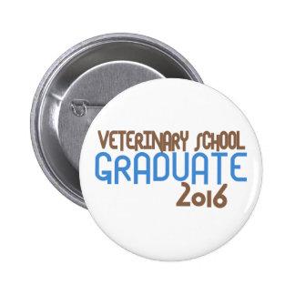Funky Veterinary School Graduate 2016 (Blue) Pinback Button