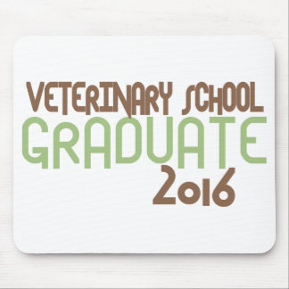 Funky Veterinary School Graduate 2016 (Green) Mouse Pad