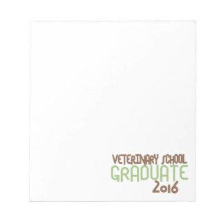 Funky Veterinary School Graduate 2016 (Green) Notepad