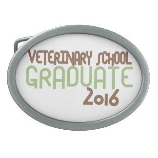 Funky Veterinary School Graduate 2016 (Green) Oval Belt Buckle