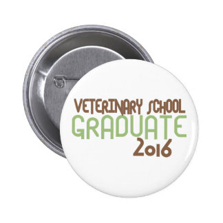 Funky Veterinary School Graduate 2016 (Green) Pinback Button