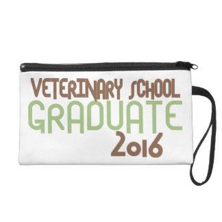 Funky Veterinary School Graduate 2016 (Green) Wristlet Purse
