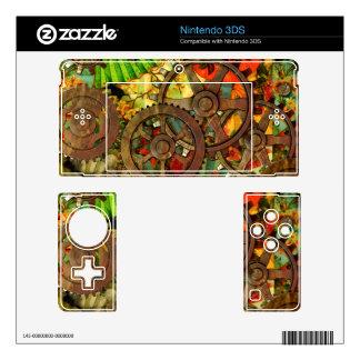 Funky Victorian Steampunk Nintendo Nintendo 3DS Skin