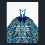 "Funky Vintage Peacocks Kissing Letterhead<br><div class=""desc"">Vintage Peacocks Kissing Wedding Gifts</div>"