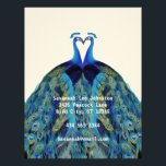 """Funky Vintage Peacocks Kissing Letterhead<br><div class=""""desc"""">Vintage Peacocks Kissing Letterhead with printing on back.  You use blank side for your correspondence.</div>"""