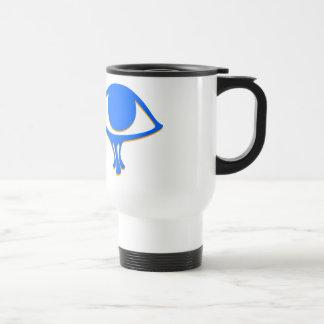 Funky Wadjet Blue Gold Travel Mug