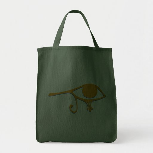 Funky Wadjet Gold Blue Canvas Bags