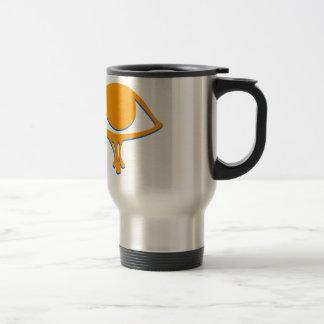 Funky Wadjet Gold Blue Travel Mug