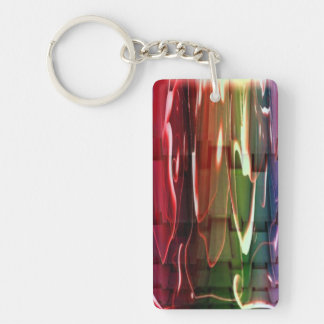 Funky Water Abstract Keychain