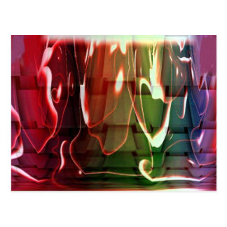 Funky Water Abstract Postcard