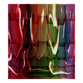 Funky Water Abstract Poster