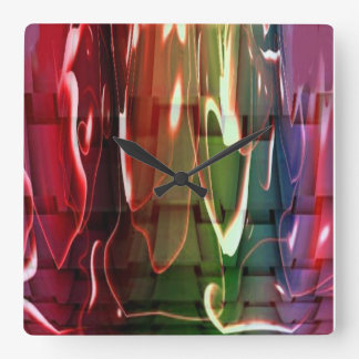 Funky Water Abstract Square Wall Clock