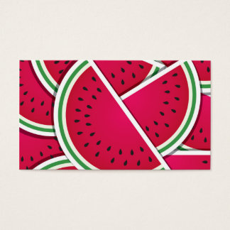 Funky watermelon wedges business card