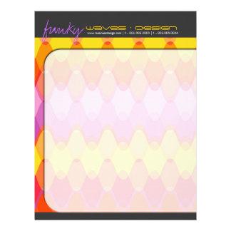 Funky Waves 01 Modern Designer Letterhead Template
