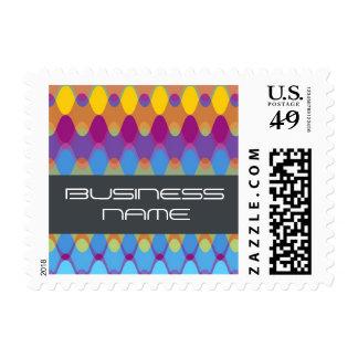 Funky Waves   02 * Modern Designer Custom Postage
