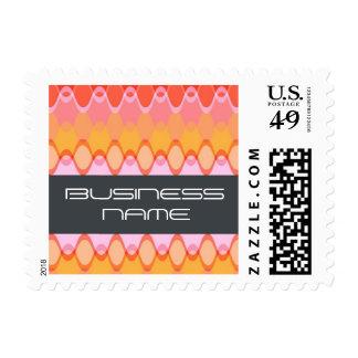 Funky Waves | 03 * Modern Designer Custom Postage