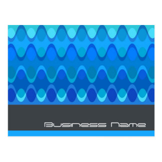 Funky Waves   04 * Modern Designer Custom Postcard