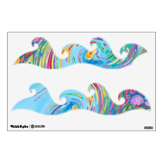 Funky Waves of Color Wall Sticker