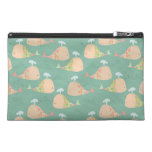 Funky Whales Pattern Designer Make Up Bag! Travel Accessory Bags