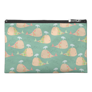 Funky Whales Pattern Designer Make Up Bag! Travel Accessories Bags