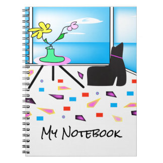 Funky Whimsical Colorful Miami, Graphic Notebook