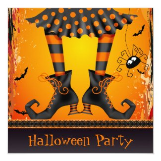 Funky Whimsical Witch Legs Halloween Party