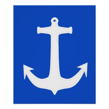 Professional Business Funky White Anchor A3 Poster