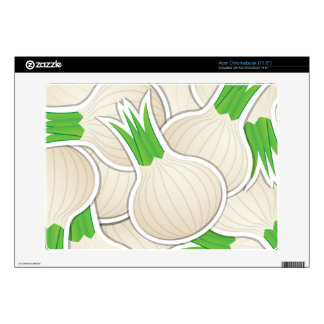 Funky white onions acer chromebook decals