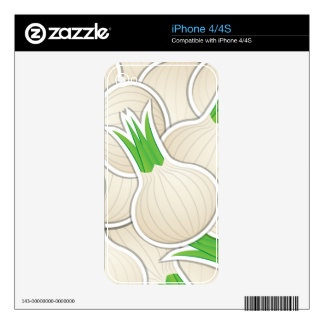 Funky white onions decal for the iPhone 4
