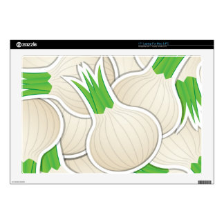 Funky white onions laptop decals