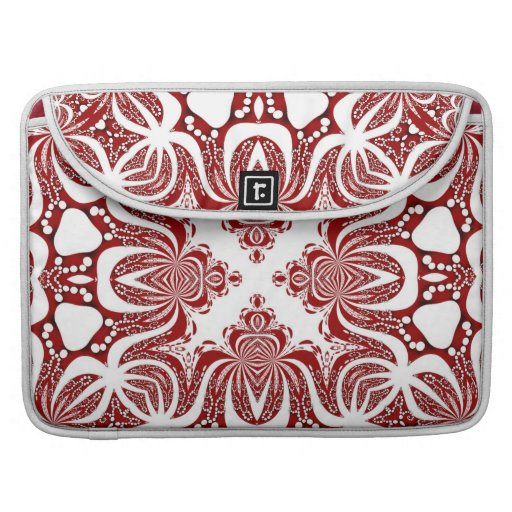 Funky White & Red Tribal Sky Laptop Sleeve