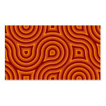 Funky Wild Circle Seamless Pattern Orange Double-Sided Standard Business Cards (Pack Of 100)