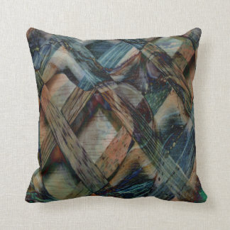Funky Wind and Wood Abstract Pillow